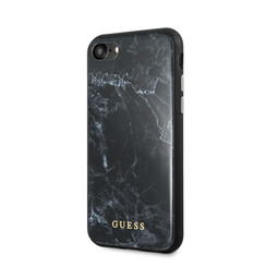 Guess back cover case Apple iPhone 7-8 Marble Collection Black - Hard Case