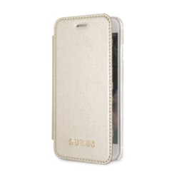 Guess book type housse Apple iPhone 7-8 Iridescent Or - Book Case