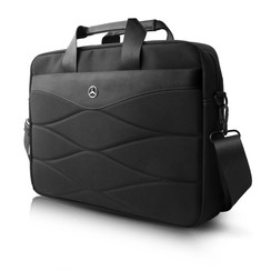 Laptoptas 15 inch Pattern III Mercedes-Benz Universeel  Zwart - Carry Bag - Kunstleer