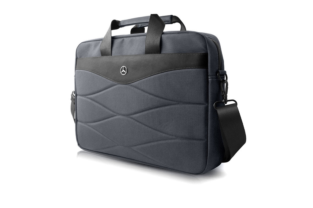 Mercedes-Benz Laptop sac Mercedes-Benz Universeel Mercedes Handbag Pattern III Gris - Carry Bag
