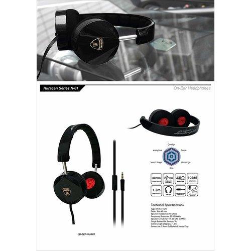 Lamborghini Lamborghini original black headphones - music and calling