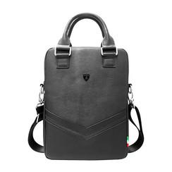 Tablettas 12 inch Easy Carry Lamborghini Universeel Zwart - Universal Bag - Echt leer