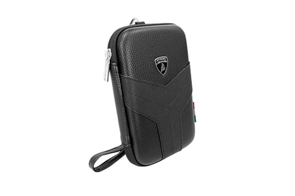 Lamborghini Tablettas 12 inch Easy Carry Lamborghini Universeel Zwart - Universal Bag - Echt leer