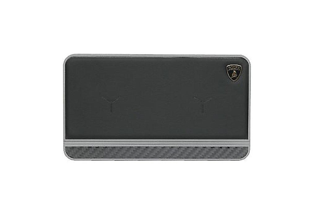 Lamborghini Lamborghini original noir 20W Chargeur sans fil pad original - Cuir véritable