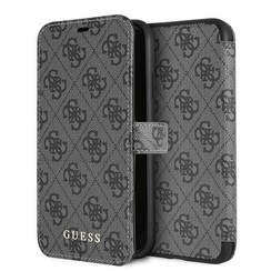 Guess back cover coque Apple iPhone XR Cardslots Gris - Book Case