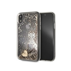 Guess back cover case Apple iPhone XR Glitter Gold - Hard Case