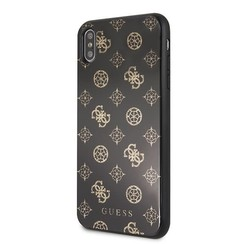 Guess back cover coque Apple iPhone XS Max Double Layer Glitter Noir - Peony