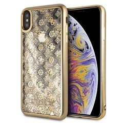 Guess back cover coque Apple iPhone XS Max Peony Or - Liquid Glitter