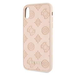 Guess back cover coque Apple iPhone X-Xs Debossed Beige - Hard Case