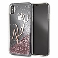 Karl Lagerfeld Karl Lagerfeld back cover coque Apple iPhone XS Max Karl Signature Or - Liquid Glitter