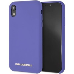 Karl Lagerfeld back cover case Apple iPhone XR Soft Touch Violet - Good Grip