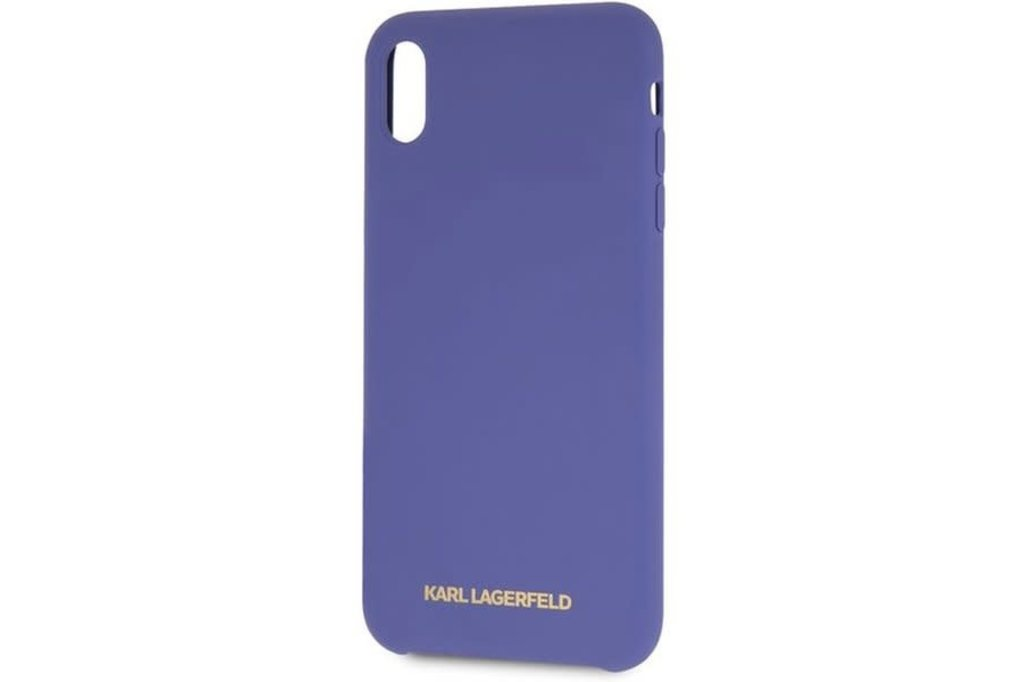 Karl Lagerfeld Karl Lagerfeld backcover hoesje Soft Touch Apple iPhone XR Violet - Good Grip - TPU