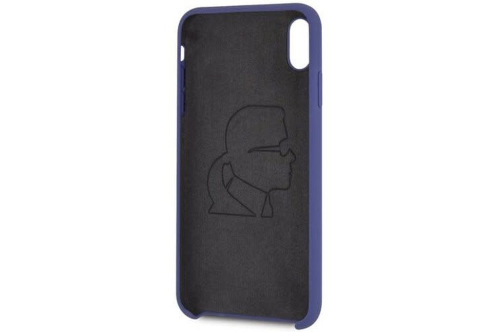 Karl Lagerfeld Karl Lagerfeld back cover coque Apple iPhone XR Soft Touch Violet - Good Grip