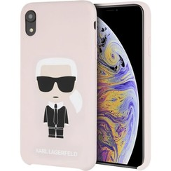 Karl Lagerfeld back cover case Apple iPhone XR Full Body Pink - Karl Iconic