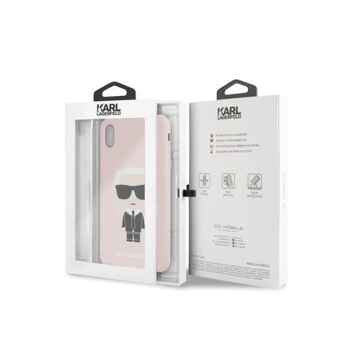 Karl Lagerfeld Karl Lagerfeld backcover hoesje Full Body Apple iPhone XS Max Roze - Karl Iconic - TPU