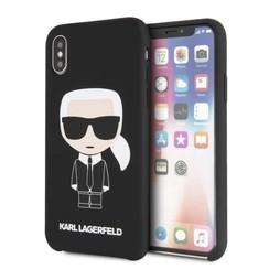 Karl Lagerfeld backcover hoesje Full Body Apple iPhone X-Xs Zwart - Iconic - TPU