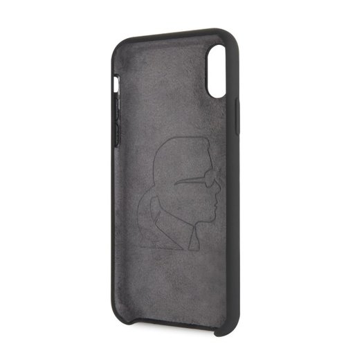 Karl Lagerfeld Karl Lagerfeld back cover coque Apple iPhone X-Xs Full Body Noir - Iconic