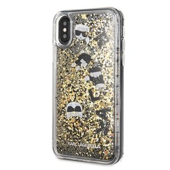 Karl Lagerfeld back cover coque Apple iPhone X-Xs Glitter Noir - Floating Charms