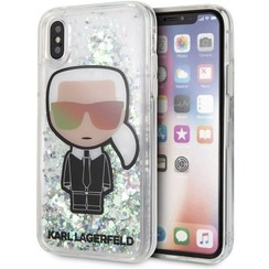 Karl Lagerfeld back cover coque Apple iPhone X-Xs Liquid Glitter Transparent - Karl Iconic