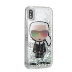 Karl Lagerfeld backcover hoesje Full Body Apple iPhone X-Xs Zilver - Karl Iconic - TPU