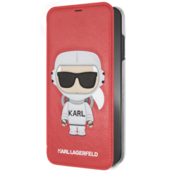 Karl Lagerfeld book type case Apple iPhone X-Xs Karl Space Red - Cosmonaut