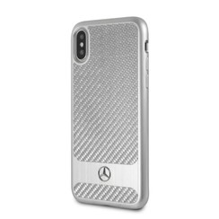 Mercedes-Benz Back-Cover hul Apple iPhone X-Xs Dynamic Druck -Stripes - Carbon fiber