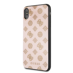 Guess back cover coque Apple iPhone X-Xs Double Layer Glitter Rose - Peony