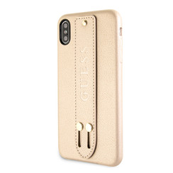 Guess back cover coque Apple iPhone X-Xs Strap Beige - Iridescent
