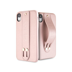 Guess back cover coque Apple iPhone XR Iridescent Rose - Strap