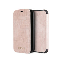 Guess book type housse Apple iPhone XR Croco Rose - Book Case