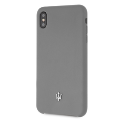 Maserati back cover coque Apple iPhone XS Max Silicone Gris - Case