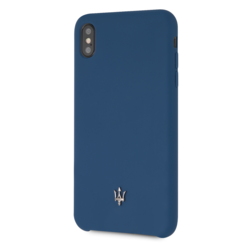 Maserati back cover coque Apple iPhone XS Max Silicone Navy - Case
