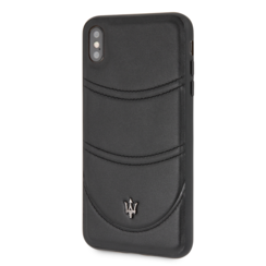 Maserati back cover coque Apple iPhone X-Xs Granslusso Noir - Origins Genuine Leather
