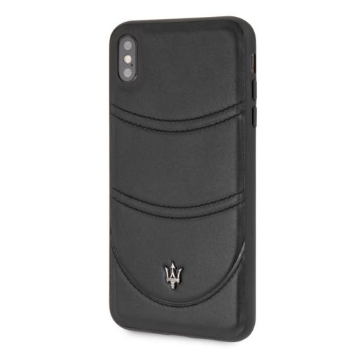 Maserati Maserati back cover coque Apple iPhone X-Xs Granslusso Noir - Origins Genuine Leather