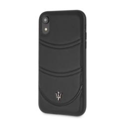 Maserati Back-Cover hul Apple iPhone XS Max Granslusso Schwarz -Hard Case - Echt leer