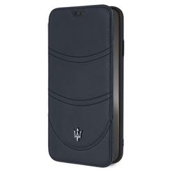 Maserati book type case Apple iPhone XS Max Granslusso Navy - Book Case
