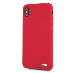 BMW back cover coque Apple iPhone XS Max Logo M Rouge - Hard Case