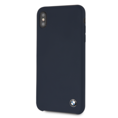 BMW back cover coque Apple iPhone XS Max Silicone Navy - Hard Case