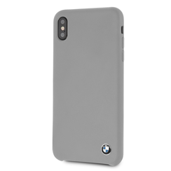 BMW back cover coque Apple iPhone XS Max Silicone Gris - Hard Case