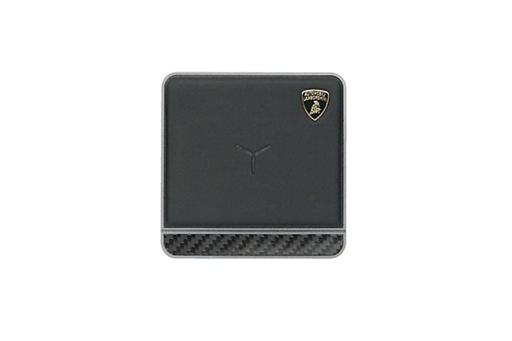 Lamborghini Lamborghini origineel zwart draadloze 10W charging pad met echt leer laagje