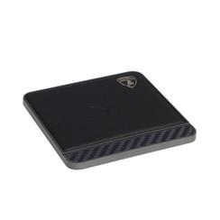 Lamborghini original black 10W wireless charger pad with Genuine Leather