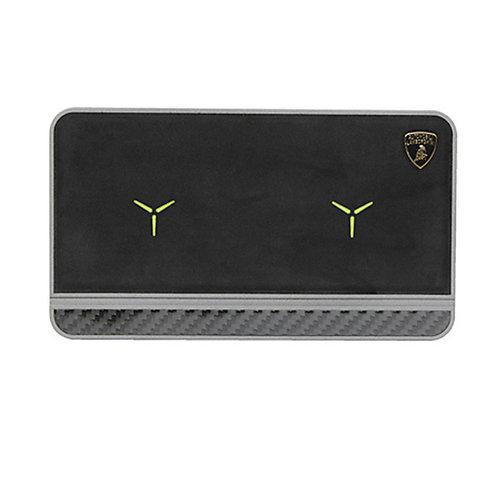 Lamborghini Lamborghini original black 20W wireless charger pad with Genuine Leather
