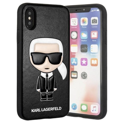 Karl Lagerfeld Karl Lagerfeld back cover coque Apple iPhone X-Xs Embossed Noir - Chic