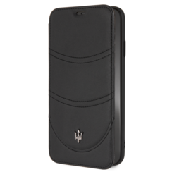 Maserati Book-Case hul Apple iPhone XS Max Granslusso Schwarz -Book Case - Echt leer