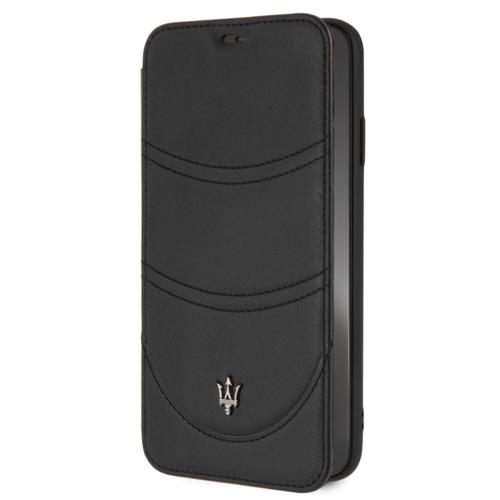 Maserati Maserati book type case Apple iPhone XS Max Granslusso Black - Book Case