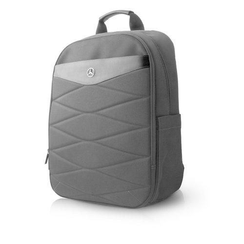 Mercedes-Benz Laptoptas 15 inch Pattern III Mercedes-Benz Universeel Zwart - Backpack - Kunstleer
