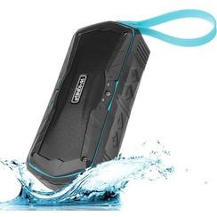 W-KING S9 Waterproof Bluetooth speaker + powerbank - Blauw