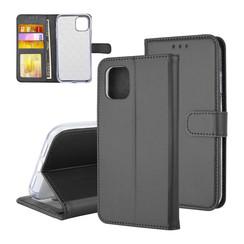 Book type housse Apple iPhone 11 Pro Max Titulaire de la carte Noir - Fermeture magnétique