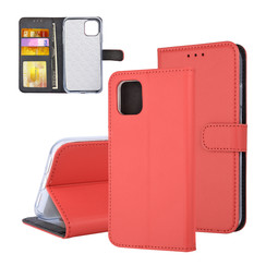 Book type case Apple iPhone 11 Pro Max Card holder Red - Magnetic closure