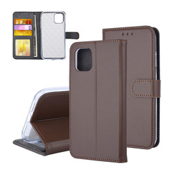Book type case Apple iPhone 11 Card holder Brown - Magnetic closure